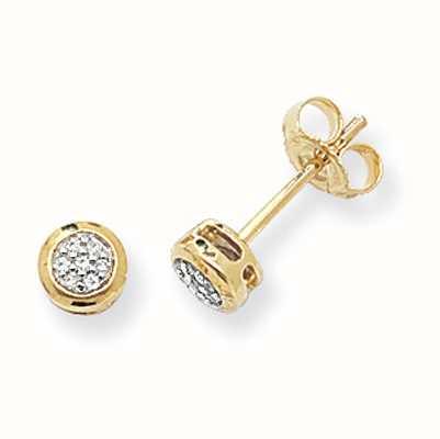 Treasure House 9k Yellow Gold Diamond Stud Earrings DE152