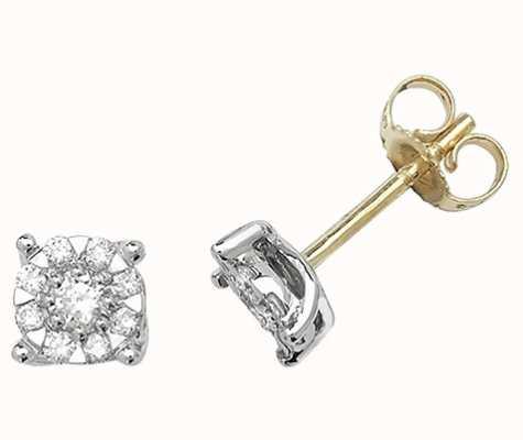 Treasure House 9k Yellow Gold Diamond Stud Earrings ED190