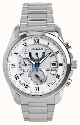 Citizen | Mens Eco-Drive World Time A.T | Stainless Steel Bracelet | AT9081-89A