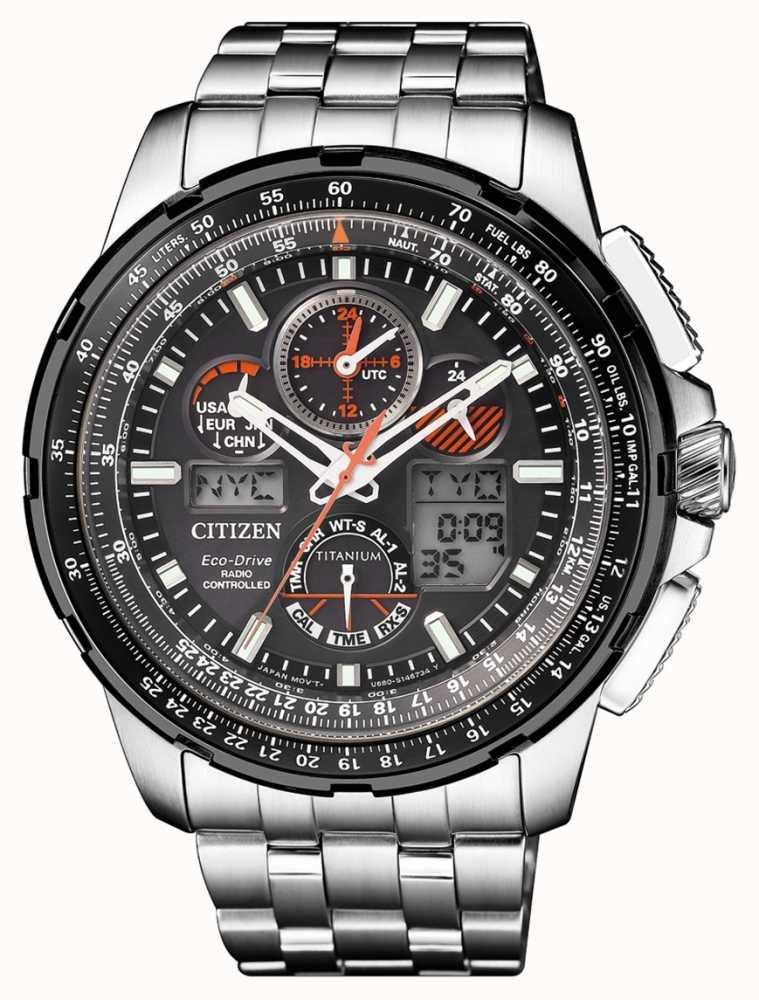 2a53eb182 Citizen | Mens Eco-Drive Skyhawk A.T | Titanium Bracelet| Black Dial ...