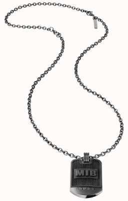 Police Men In Black Dog Tag Necklace 26400PSUB/01