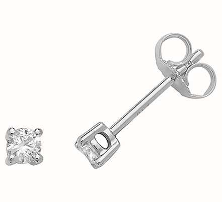 Treasure House 18k White Gold Diamond Stud Earrings EDQ185W