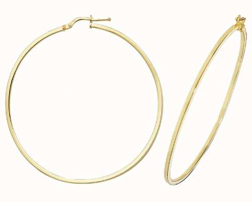 Treasure House 9k Yellow Gold Hoop Earrings 50 mm ER1007-50