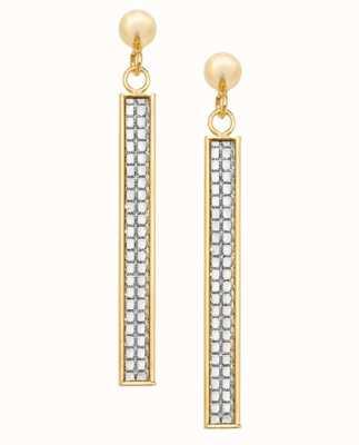 James Moore TH 9k Yellow Gold Drop Bar Earrings ES565