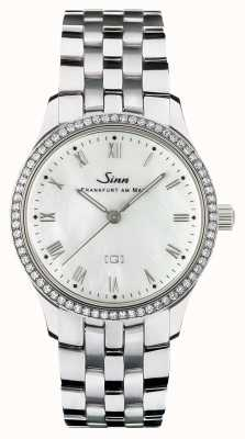 Sinn 434 TW68 WG Mother-of-pearl W Stainless Steel Bracelet 434.031