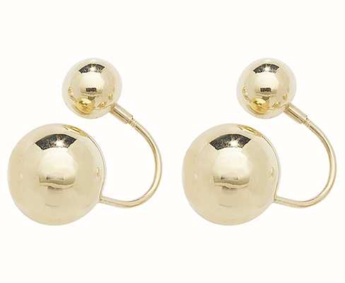 Treasure House 9k Yellow Gold Double Ball Earrings ES546