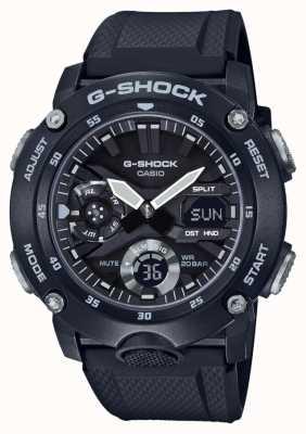 Casio | G-Shock Carbon Core Guard | Black Rubber Strap | GA-2000S-1AER