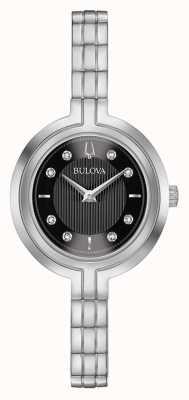 Bulova | Rhapsody | Womens | Steel Bracelet | Black Dial | 96P215