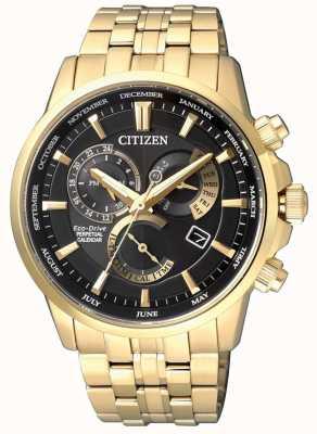 Citizen | Mens Eco-Drive Calibre 8700 | Black Dial | Gold Tone | BL8142-84E