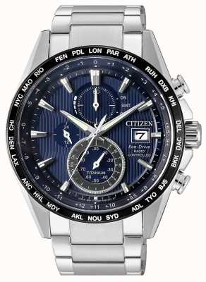 Citizen | Mens Eco-Drive Radio Wave H800 | Titanium Bracelet | AT8154-82L