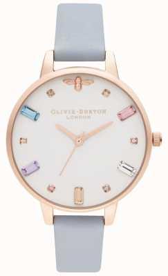 Olivia Burton | Womens | Rainbow Bee | Demi Chalk Blue Strap | OB16RB12