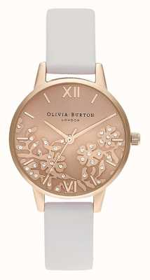 Olivia Burton | Womens | Bejewelled Lace | Stone Blush Leather Strap | OB16MV102