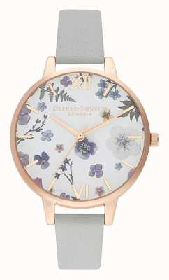 Olivia Burton | Womens | Artisan | Grey Leather Strap | OB16AR10