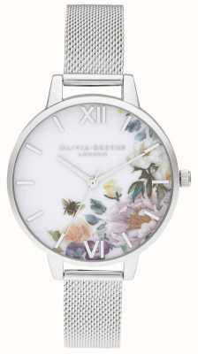 Olivia Burton | Womens | Enchanted Gardens | Steel Mesh Bracelet | OB16EG136