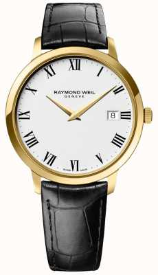 Raymond Weil | Mens Toccata | Gold Case | Black Leather Strap | 5588-PC-00300
