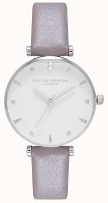 Olivia Burton | Womens | Queen Bee | Grey Leather Strap | OB16AM144