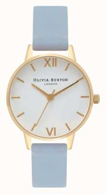 Olivia Burton | Womens | Chalk Blue Strap | White Dial | OB16MDW24