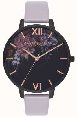 Olivia Burton | Womens | After Dark Floral | Grey Lilac Strap | OB16AD15