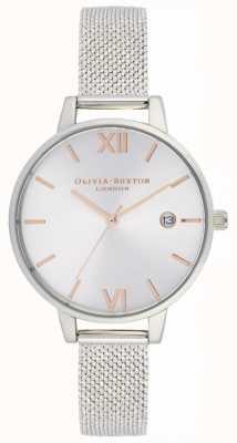 Olivia Burton | Womens | Sunray Demi Date | Steel Boucle Mesh Bracelet | OB16DE01