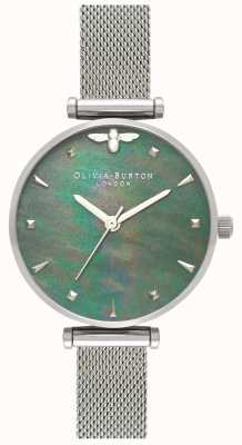 Olivia Burton | Womens | Queen Bee | Pearl | Steel Mesh Bracelet | OB16AM151