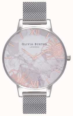 Olivia Burton | Womens | Abstract Florals | Steel Mesh Bracelet | OB16VM20