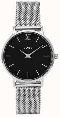 CLUSE Minuit Mesh Silver Black/Silver 33mm CW0101203005