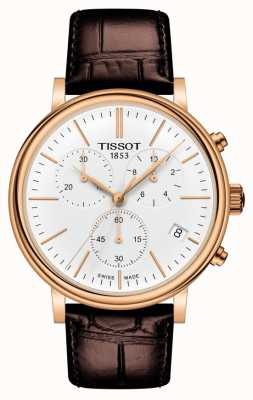 Tissot | Carson Premium Chronograph | Brown Leather Strap | T1224173601100