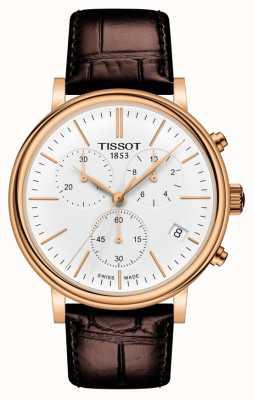Tissot | Carson Premium Chronograph | Brown Leather Strap | T1224173601100