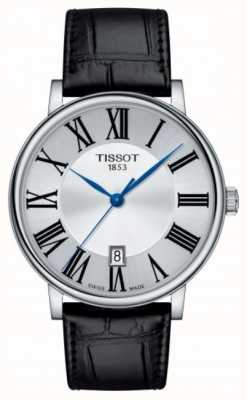 Tissot | Carson Quartz | Black Leather | Silver Dial | T1224101603300