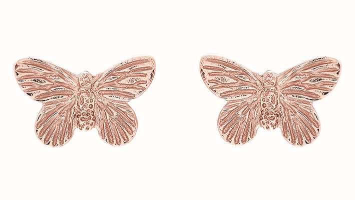 Olivia Burton | 3D Butterfly | Rose Gold | Stud Earrings | OBJ16MBE02