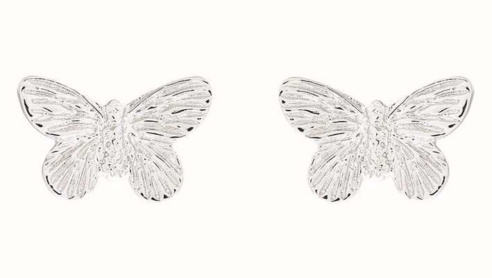 Olivia Burton | 3D Butterfly | Silver | Stud Earrings | OBJ16MBE03