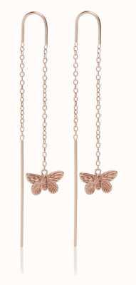 Olivia Burton | 3D Butterfly | Rose Gold | Threader Earrings | OBJMBE09