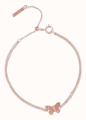 Olivia Burton | 3D Butterfly | Rose Gold | Chain Bracelet | OBJ16MBB02