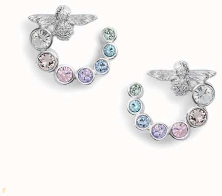 Olivia Burton | Rainbow Bee | Swarovski Swirl | Silver | Earrings | OBJAME133