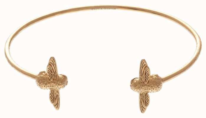 Olivia Burton | 3D Bee | Gold | Open End Bangle | OBJ16AMB01