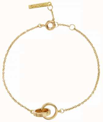 Olivia Burton | The Classics | Gold | Interlink Circle Chain | Bracelet | OBJENB12B