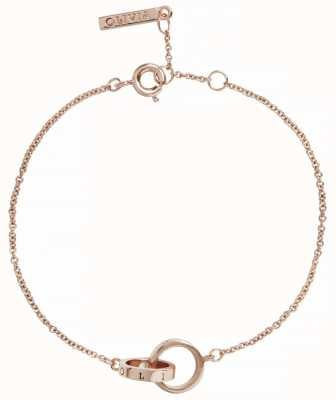 Olivia Burton | The Classics | Rose Gold | Interlink Circle | Bracelet | OBJENB13B