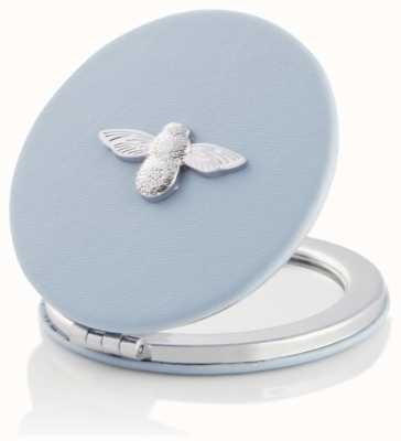 Olivia Burton | 3D Bee | Chalk Blue And Silver | Compact Mirror | OBACS51