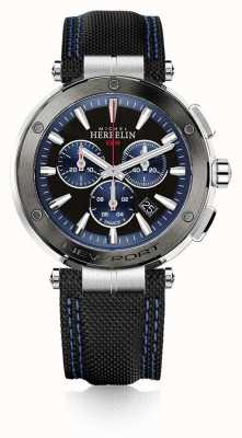 Michel Herbelin | Mens | Newport | Blue And Black Chronograph | Rubber | 37688/AG65