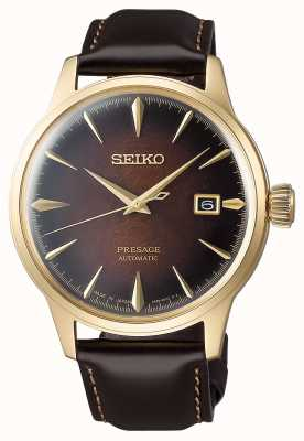 Seiko Presage Automatic Brown Dial 'Cocktail Time' Brown Leather Strap SRPD36J1