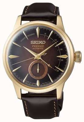 Seiko Presage Automatic Limited Edition 'Cocktail Time' Brown Leather SSA392J1