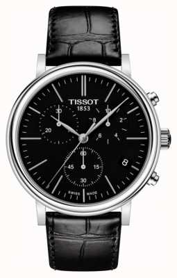 Tissot | Mens Carson | Black Chronograph Dial | Black Leather Strap T1224171605100