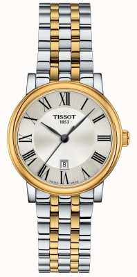 Tissot | Womens Carson | Two-Tone Stainless Steel | Silver Dial | T1222102203300