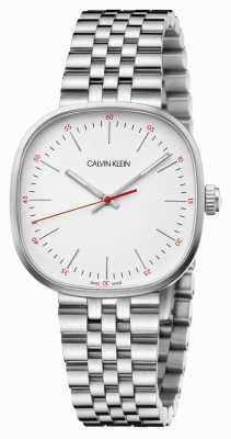 Calvin Klein | Mens Stainless Steel Bracelet | Silver Square Dial | K9Q12136