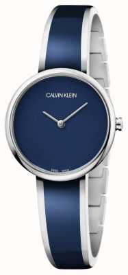 Calvin Klein | Womens Seduce | Stainless Steel Blue Resin Bracelet | K4E2N11N