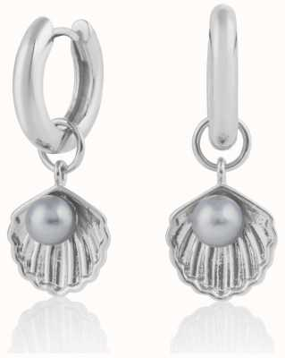 Olivia Burton | Under The Sea | Silver | Huggie Hoop Shell Earrings | OBJSCE07