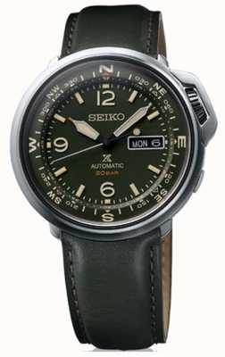 Seiko | Prospex | Mens | Outdoor | Green Leather | SRPD33K1