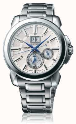 Seiko | Premier Kinetic | Mens | White Calender | SNP159P1