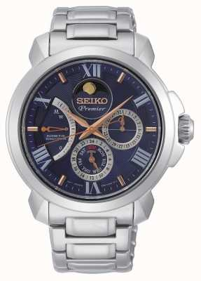 Seiko | Premier Kinetic Direct Drive | Mens | Blue Calender | SRX017P1