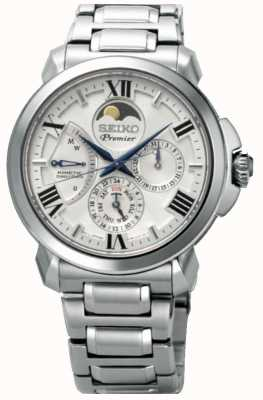 Seiko | Premier Kinetic Direct Drive | Mens | White Calender | SRX015P1